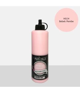 Гибридная акриловая краска Hybrid Acrylic 24 детский розовый, 500 мл, Cadence