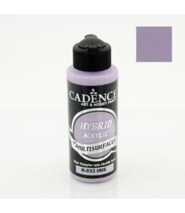 Гибридная акриловая краска Hybrid Acrylic 33 ирис, 70 мл, Cadence
