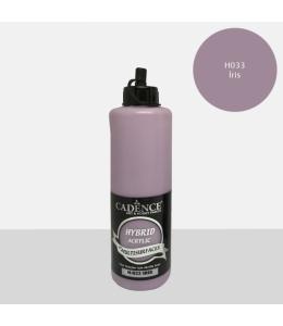 Гибридная акриловая краска Hybrid Acrylic 33 ирис, 500 мл, Cadence