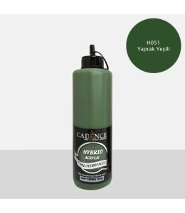 Гибридная акриловая краска Hybrid Acrylic 51  темный лист, 500 мл, Cadence