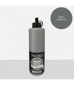 Гибридная акриловая краска Hybrid Acrylic 81 серый графит, 500 мл, Cadence