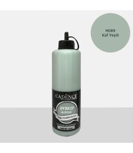 Гибридная акриловая краска Hybrid Acrylic 89 зеленая плесень, 500 мл, Cadence
