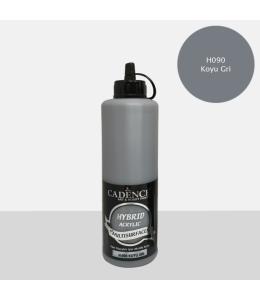 Гибридная акриловая краска Hybrid Acrylic 90 темно-серый, 500 мл, Cadence