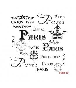 "Трафарет Cadence HDM010 ""Париж надписи"", 25х25 см"