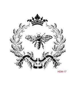 "Трафарет Cadence HDM017 ""Королева пчел"", 25х25 см"
