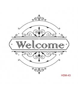 """Трафарет Cadence HDM043 """"Welcome"""", 25х25 см"""