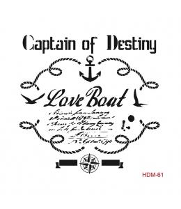"Трафарет Cadence HDM061 ""Love Boat"", 25х25 см"