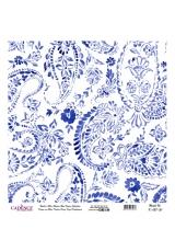 Рисовая бумага Blue Shades K027 цветочные огурцы, Cadence 30х30 см