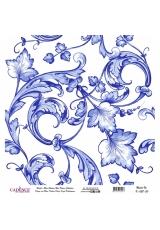 Рисовая бумага Blue Shades K028 попугай и бабочки, Cadence 30х30 см