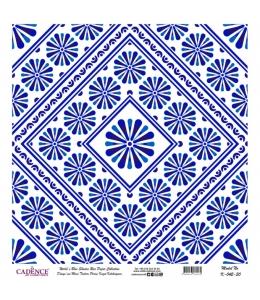 Рисовая бумага Blue Shades K042 плитка, Cadence 30х30 см