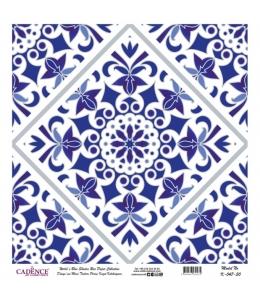 Рисовая бумага Blue Shades K047 плитка, Cadence 30х30 см