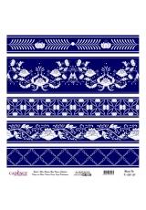 Рисовая бумага Blue Shades K050 плитка, Cadence 30х30 см
