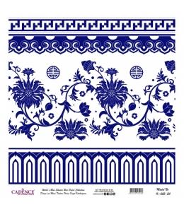 Рисовая бумага Blue Shades K052 плитка, Cadence 30х30 см