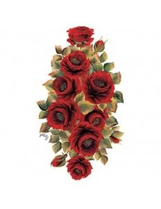 """Трансфер (переводная картинка) по ткани Cadence KT-48 """"Алые розы"""", 17х25 см"""