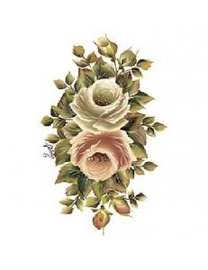 """Трансфер (переводная картинка) по ткани Cadence KT-97 """"Чайные розы"""", 17х25 см"""