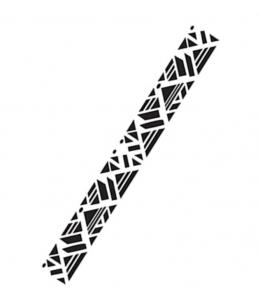 "Трафарет бордюр ""Орнамент майа"", 7,5х36 см, Cadence"