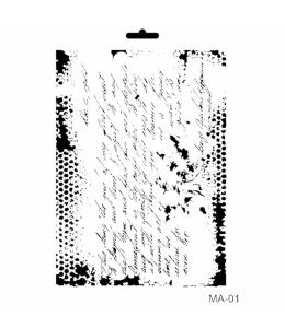 """Трафарет Cadence STMA01 """"Текст"""", 21х29 см"""