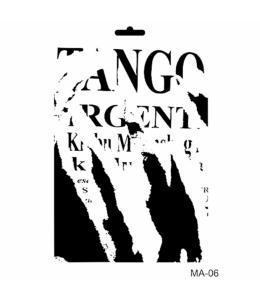 "Трафарет Cadence STMA06 ""Tango"", 21х29 см"