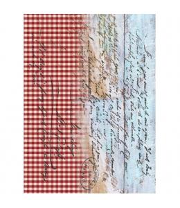 """Рисовая бумага для декупажа Cadence 358 """"Морские доски клетка"""", 30х41 см"""