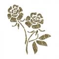 """Трансфер универсальный с глиттером Cadence SM-014 """"Розы"""", 17х25 см"""