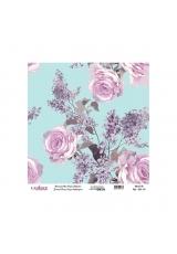 Рисовая бумага Universal Collection UC053 розы на голубом, Cadence 30х30 см