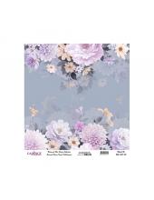 Рисовая бумага Universal Collection UC068 цветы на голубом, Cadence 30х30 см