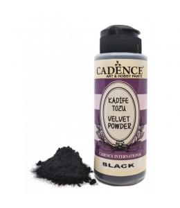 Пудра для создания бархатной поверхности Velvet Powder, черный, 120 мл, Cadence