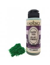 Пудра для создания бархатной поверхности Velvet Powder, зеленый, 120 мл, Cadence