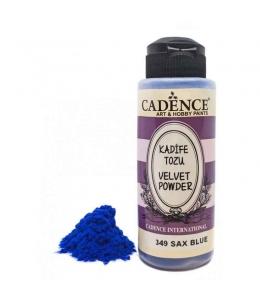 Пудра для создания бархатной поверхности Velvet Powder,  синий, 120 мл, Cadence