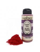 Пудра для создания бархатной поверхности Velvet Powder красный, 120 мл, Cadence