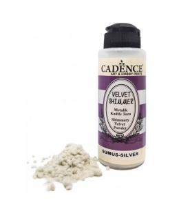 Пудра мерцающая бархатная Shimmer Velvet Powder серебро, 120 мл Cadence