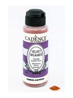 Пудра флок мерцающая бархатная Shimmer Velvet Powder медь, 120 мл, Cadence
