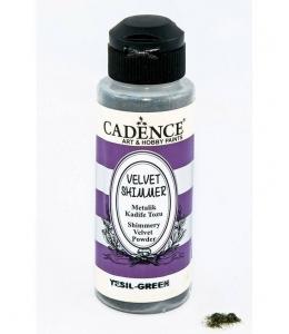 Пудра мерцающая бархатная Shimmer Velvet Powder зеленый, 120 мл Cadence