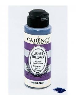 Пудра флок мерцающая бархатная Shimmer Velvet Powder индиго, 120 мл, Cadence