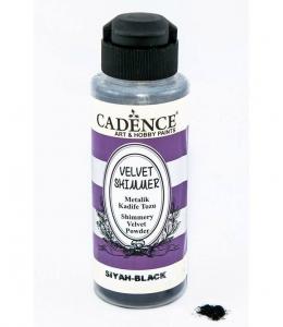Пудра мерцающая бархатная Shimmer Velvet Powder черный, 120 мл Cadence