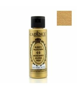 Краска для золочения Water Based Gilding Metallic зеленое золото, 70 мл, Cadence