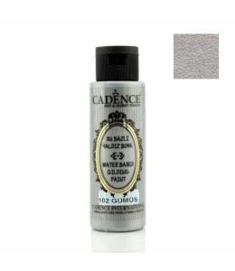 Краска для золочения Water Based Gilding Metallic серебро, 70 мл, Cadence