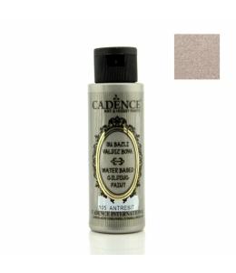 Краска для золочения Water Based Gilding Metallic антрацит серебро, 70 мл, Cadence