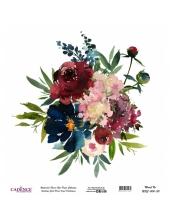 Рисовая бумага Watercolor Flower WFC004 цветочная композиция, Cadence 30х30 см