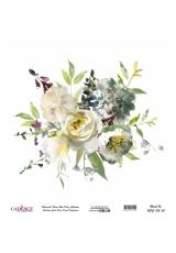 Рисовая бумага Watercolor Flower WFC012 цветочная композиция, Cadence 30х30 см