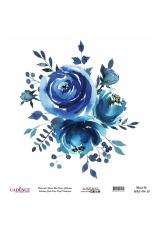 Рисовая бумага Watercolor Flower WFC014 цветочная композиция, Cadence 30х30 см
