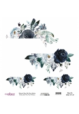 Рисовая бумага Watercolor Flower WFC017 цветочная композиция, Cadence 30х30 см