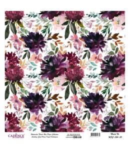 Рисовая бумага Watercolor Flower WFC024 цветочная композиция, Cadence 30х30 см
