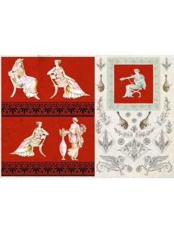 Декупажная карта Calambour AD 02 Древний Рим, женщины, 35х50 см
