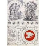 "Декупажная карта Calambour AD 04 ""Древний Рим, красавицы"", 35х50 см"