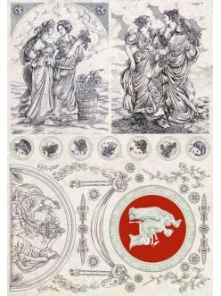 Декупажная карта Calambour AD 04 Древний Рим, красавицы, 35х50 см