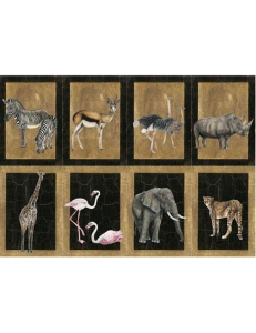 """Декупажная карта Calambour CAL 072 """"Африканские животные"""", 50х70 см"""