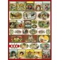 """Декупажная карта Calambour CAL 300 """"Этикетки с портретами, винтаж"""", 50х70 см"""