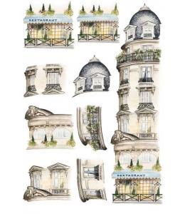 """Рисовая бумага Calambour """"Дом с балконами"""", для 3D изображений, 35х50 см"""