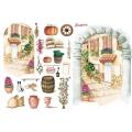 """Рисовая бумага для декупажа Calambour CO 19 """"Средиземноморская улочка"""", для 3D изображений, 35х50 см"""